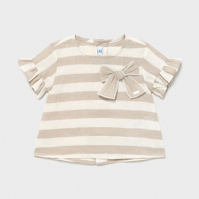 Mayoral - Blusa lino righe