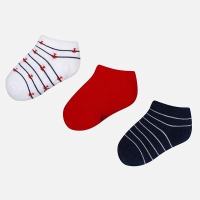 Set 3 paia di calze corte in cotone bambino Mayoral