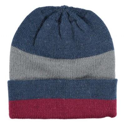 Cappellino modello cuffia con fantasia rigata iDO